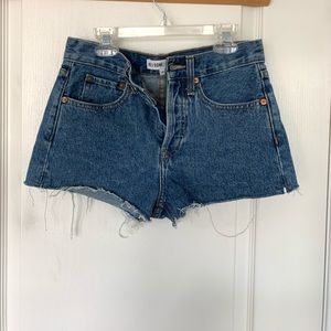 Re/Done Shorts - Re/Done high waisted denim shorts